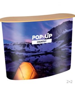Pop-Up Counter with printed graphic
