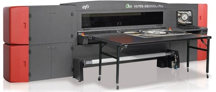 Large Format printer with white ink