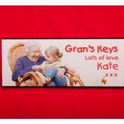 Personalised Printed Key Hook Board