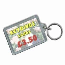 Personalised Printed Keyring Large