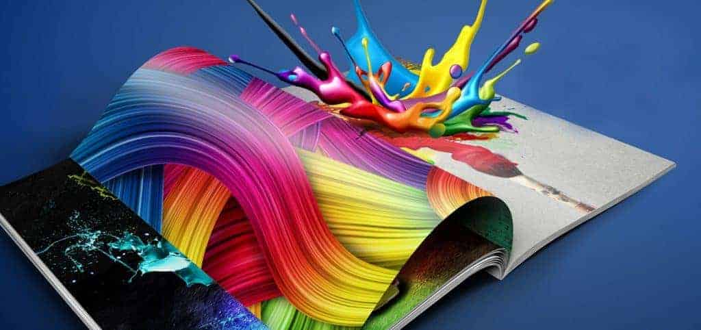 Fantasy Prints Book Splash Background