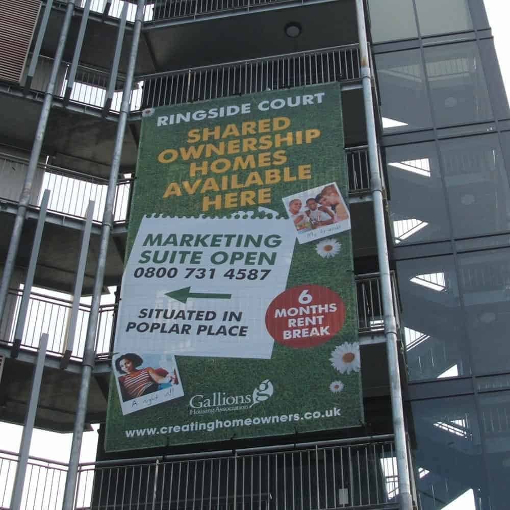 Banners for Scaffolding - Scaffold Banners Mesh Printed