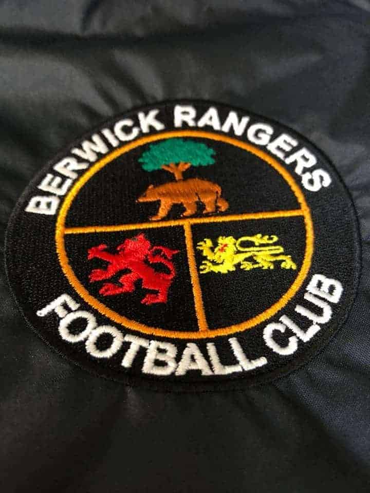 Berwick Rangers Football Kits being Embroidered