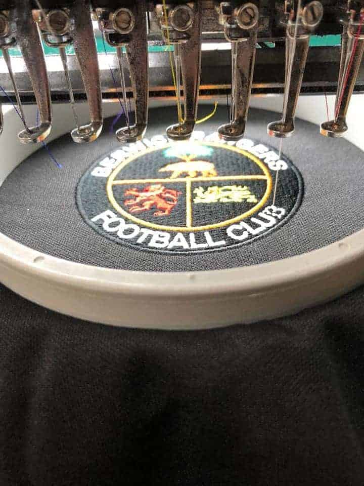 Berwick Rangers FC 2019 Football Strip embroidery service by FPUniformz
