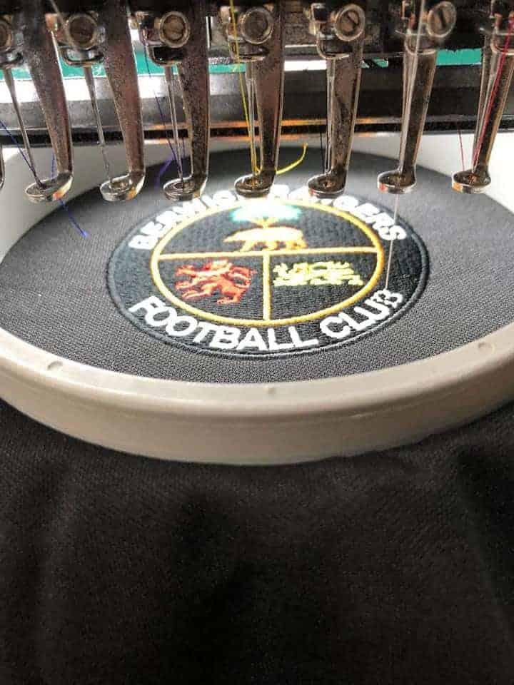 Berwick Rangers FC 2019 Football Strip embroidery service by FPUniformz