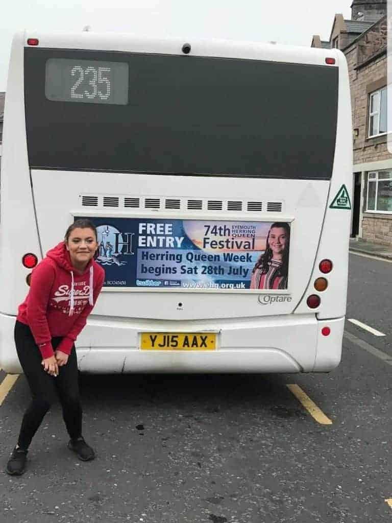 Eyemouth Herring Queen Bus Board