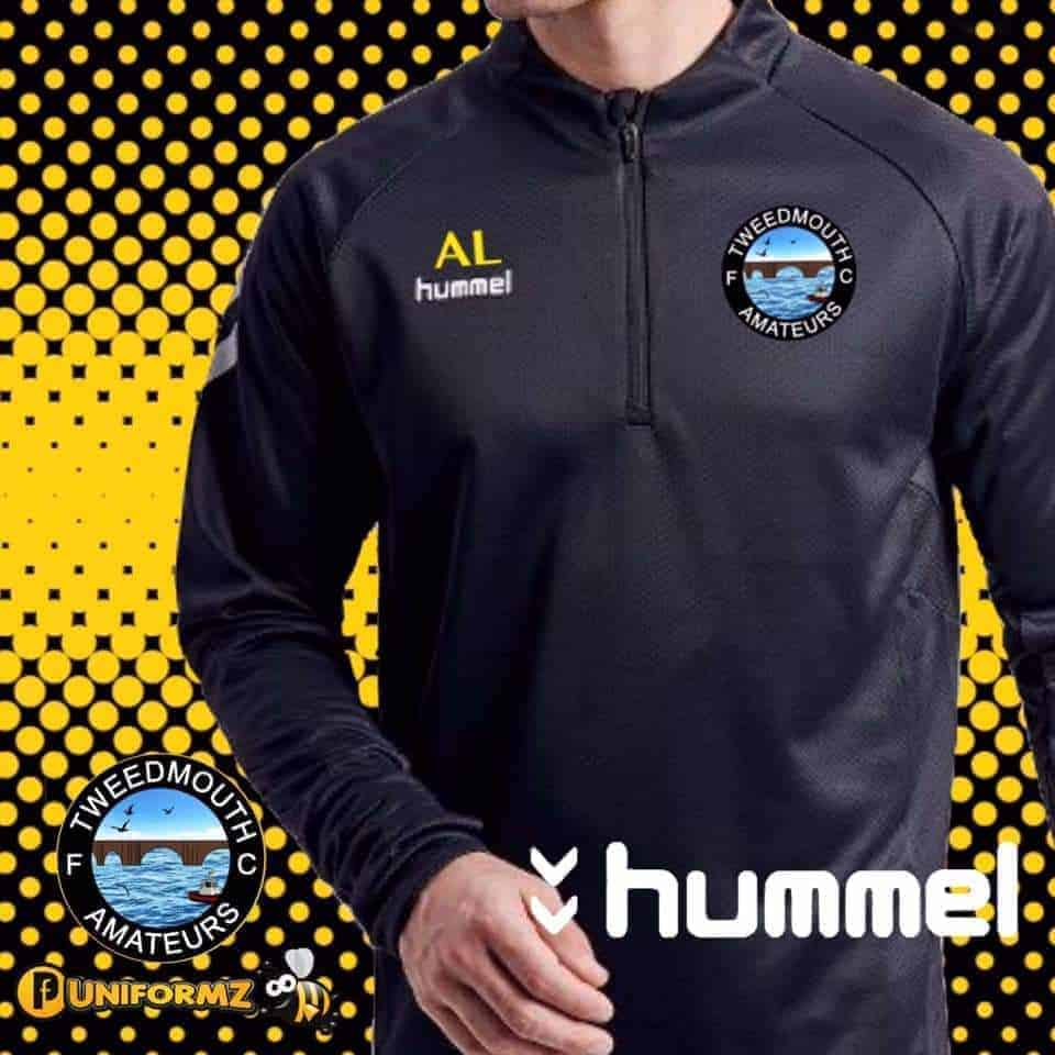 Tweedmouth Amateurs Hummel Strip Embroidered and printed by Fantasy Prints