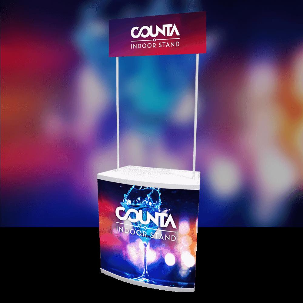 Counta Indoor Display Stand with header