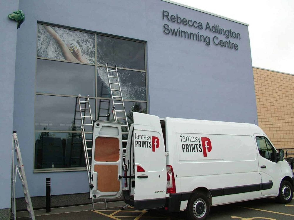 one way vision vinyl Rebecca Adlington Centre
