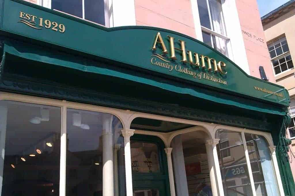 A Hume Shop Sign