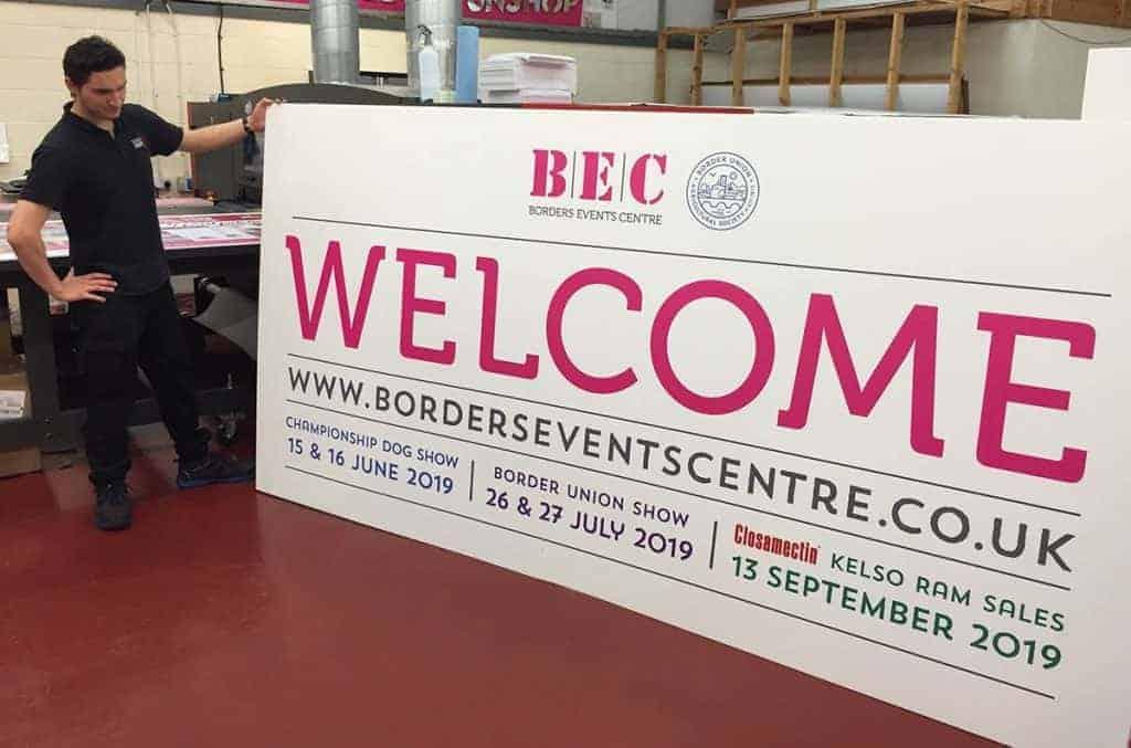 Border Event Centre Board printed by Fantasy Prints