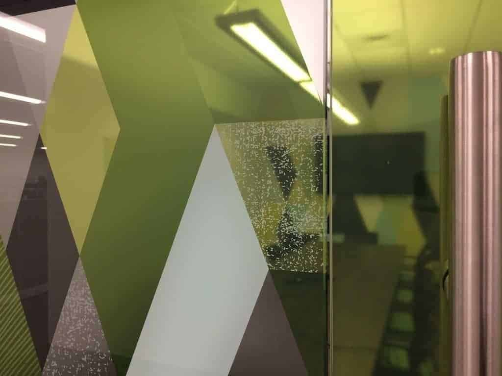 Window Graphics with white ink