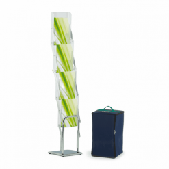 Media 4 Deluxe Portable Brochure Stand