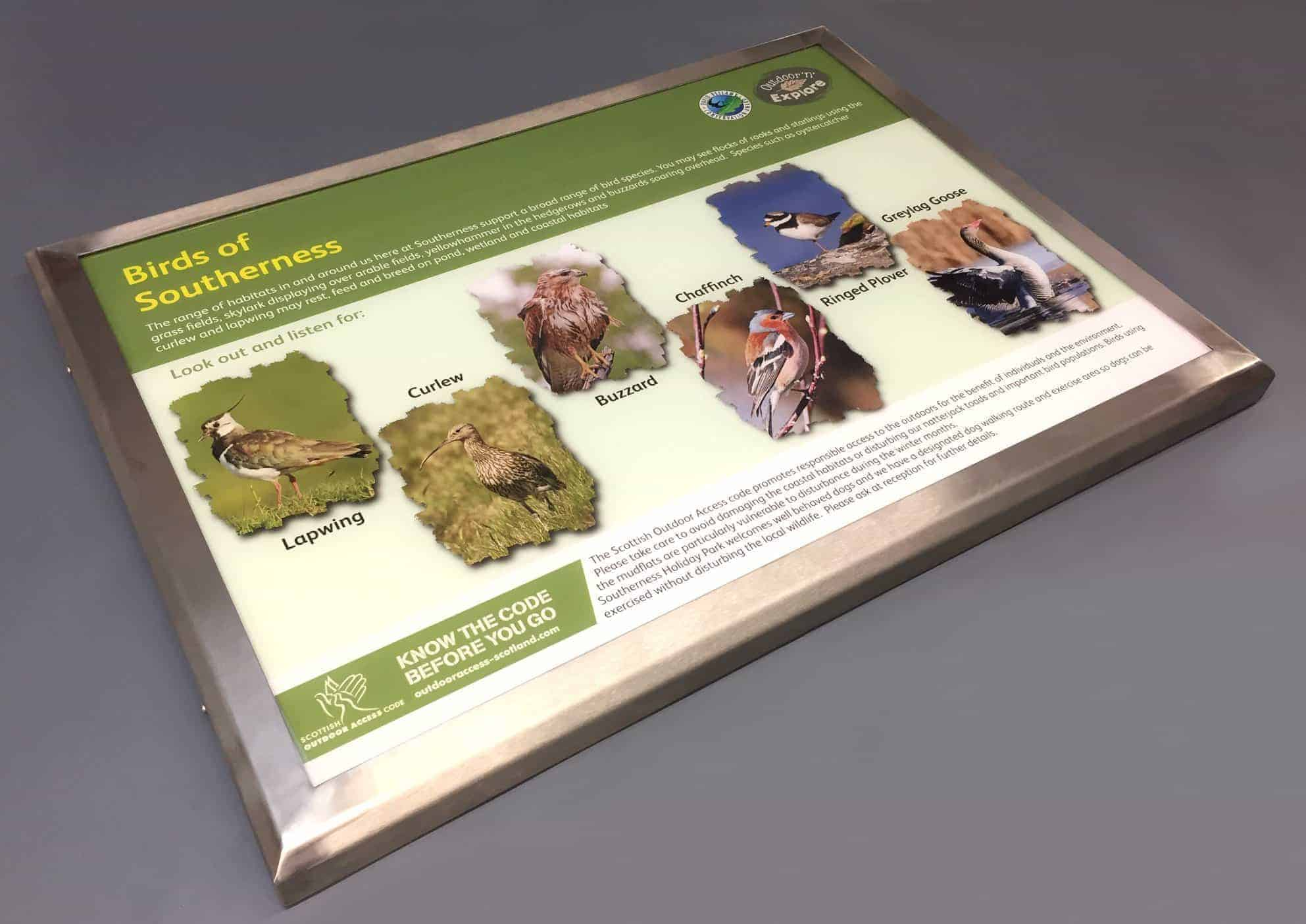 Interpretation Panels Manufactured for Southerness Holiday Park
