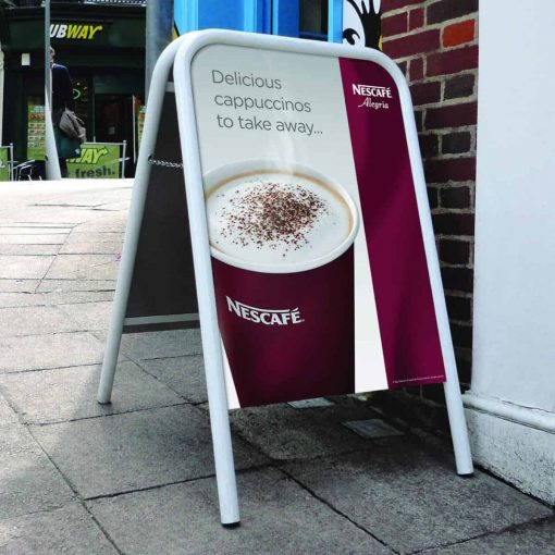 A-Board in use