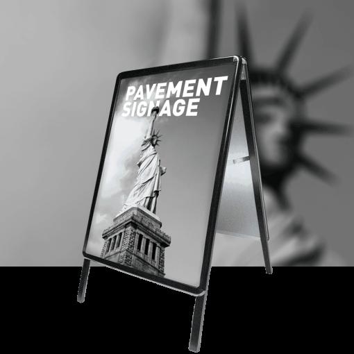 A-Master Pavement Sign Black