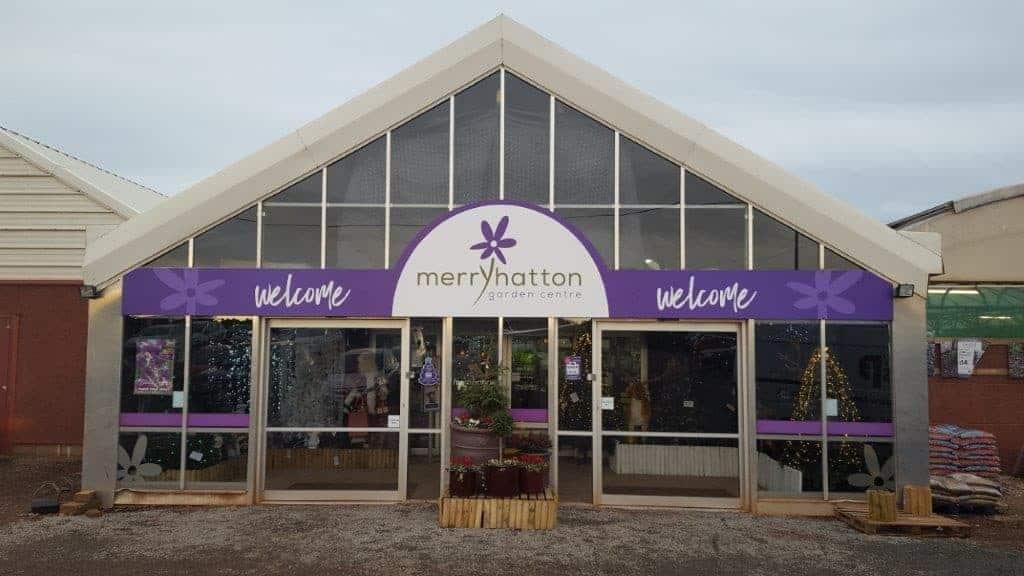 merryhatton garden centre lobby sign
