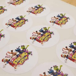 Round labels supplied on sheets