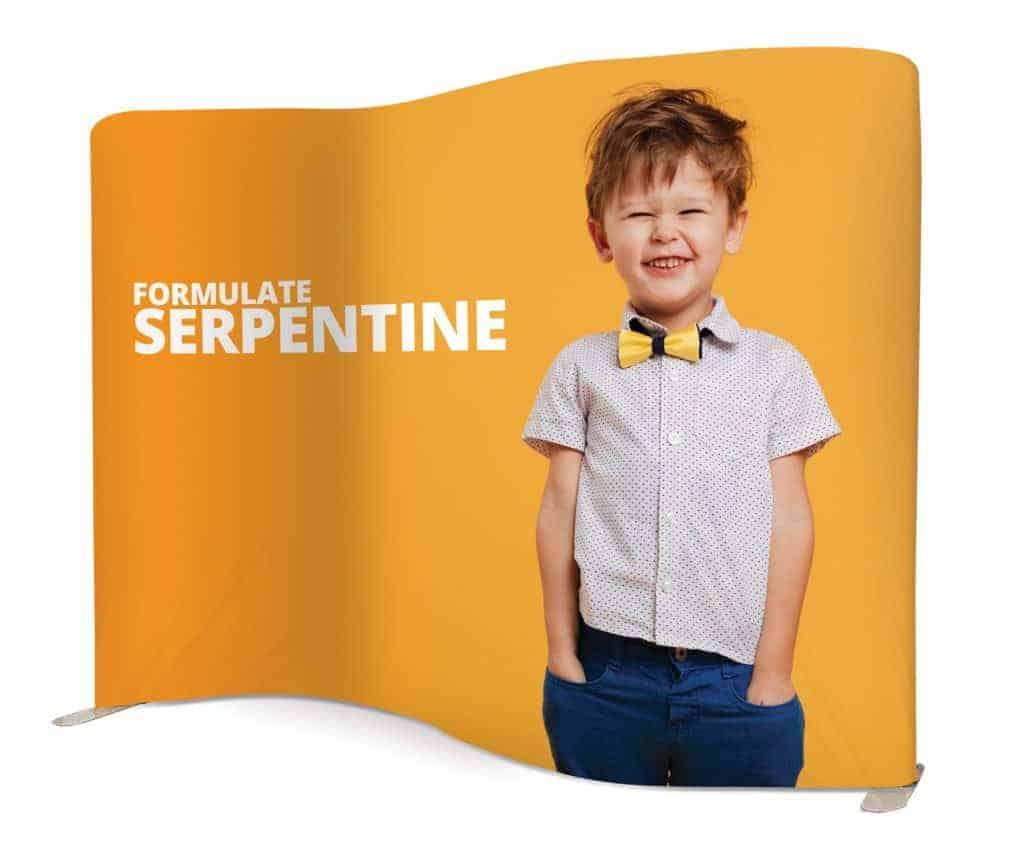 Serpentine Fabric Exhibition Trade Stand