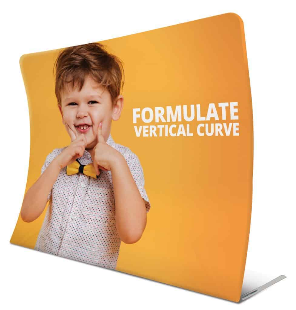 Formulate Vertical Curved Fabric Exhibition Stand
