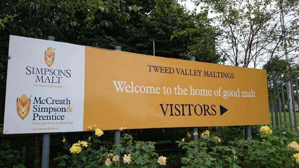 Simpsons Malt Entrance Sign