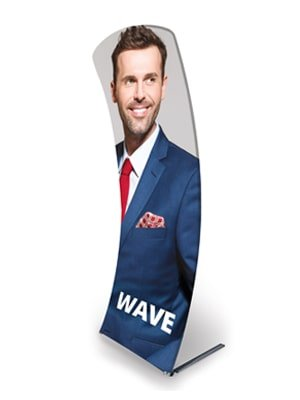 Formulate Wave Fabric Display Stand