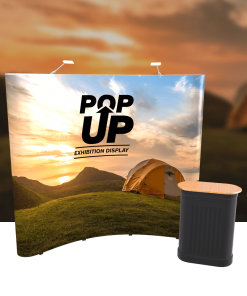 Exhibition Pop-up Curved Stand (Single-Sided)