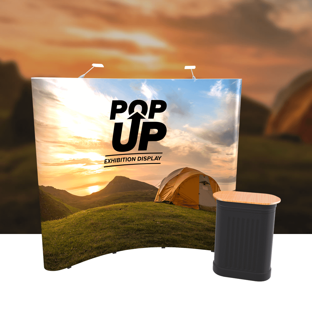 Pop Up 3x3 Curved Single Sided Display