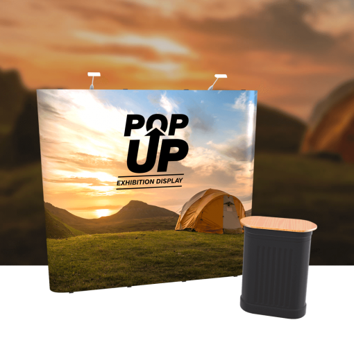 Pop Up Straight Exhibition Trade Stand