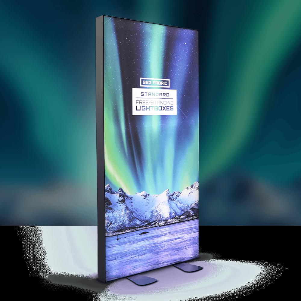 SEG Fabric Free-Standing Lightboxes