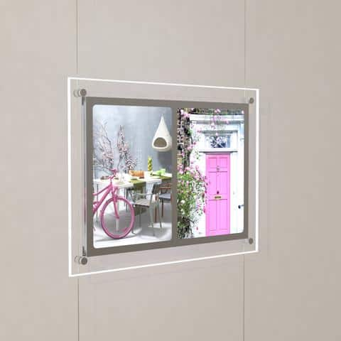LED Single Pocket Landscape Estate Agent Window System