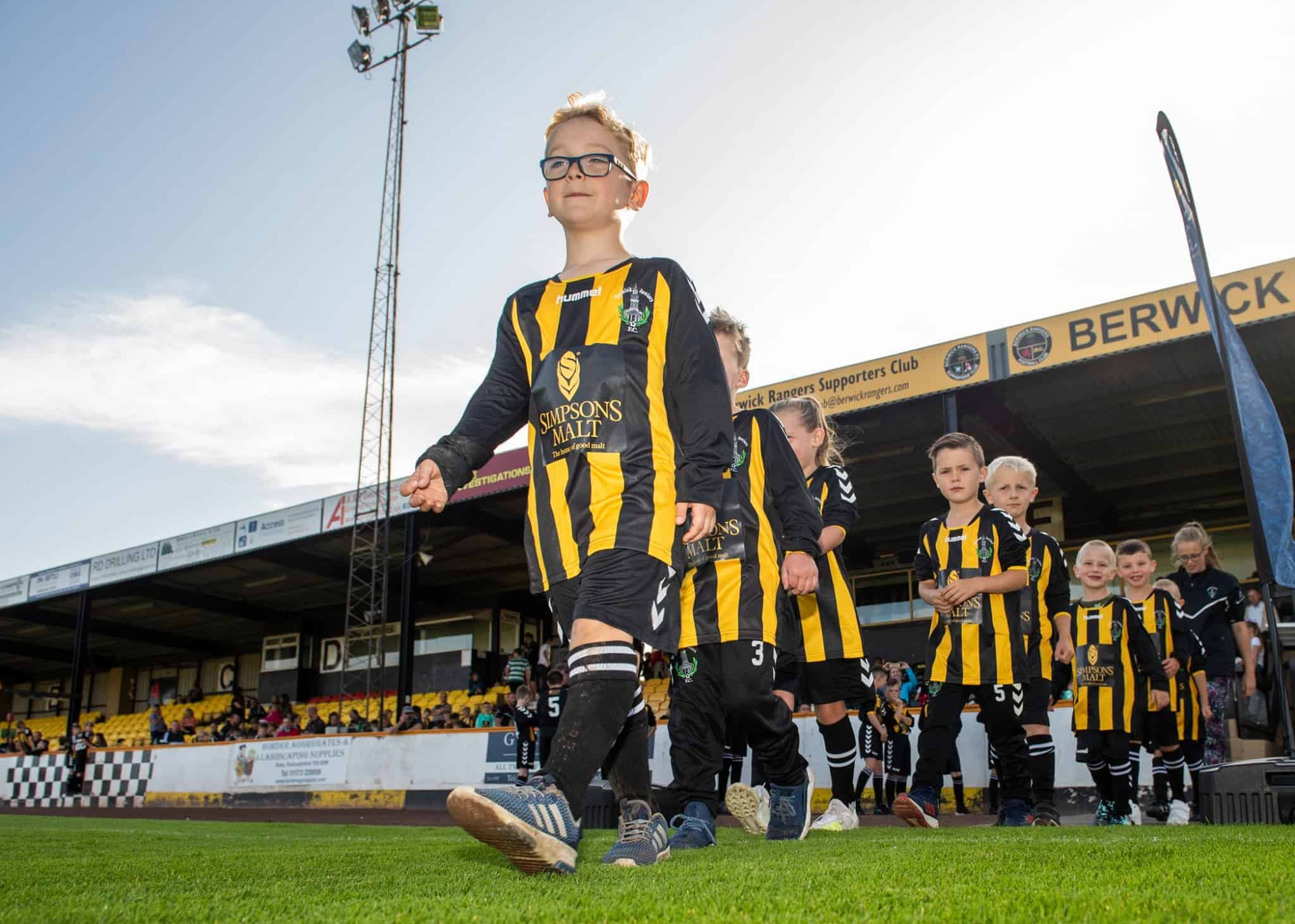 Berwick Rangers Juniors new Hummel Kit supplied by Fantasy Prints