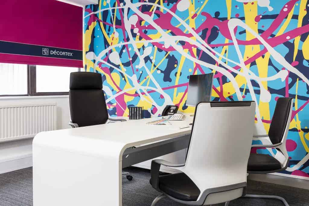 Customised Printed Blinds brightens up office areas available by Fantasy Prints