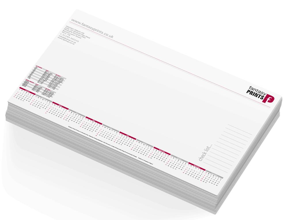 2020 Desk Pads Personalised Printed