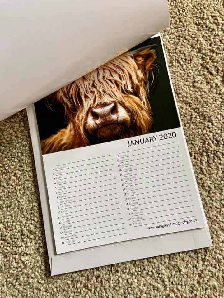 Personalised Wall Calendar Printed