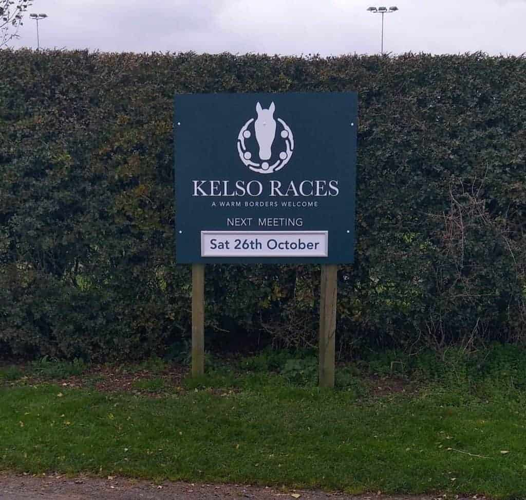 Kelso Racecourse new signs | Fantasy Prints