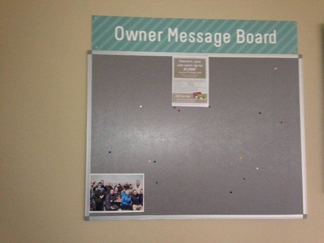 Owners Notice Board