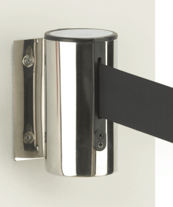 Wall Mounted Retractable Barrier Cartridge with Black Belt