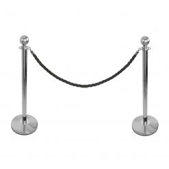 Rope Barrier Pedestrian Guidance System