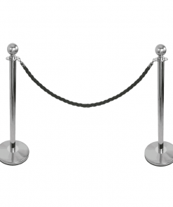 Post and Pole for Rope Pedestrian Guidance System