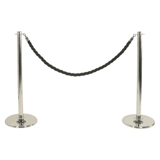 Black Rope Barrier System Flat Top