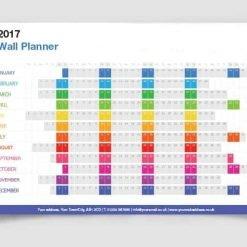 2020 Wall Planner Personalised Printed