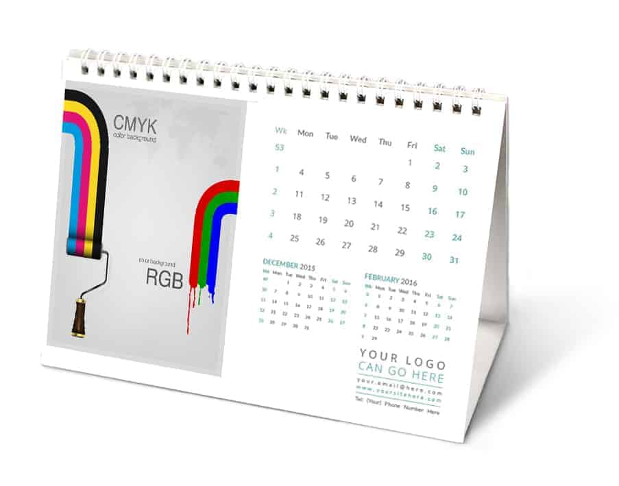 A5 Desk Calendars Personalised Printed