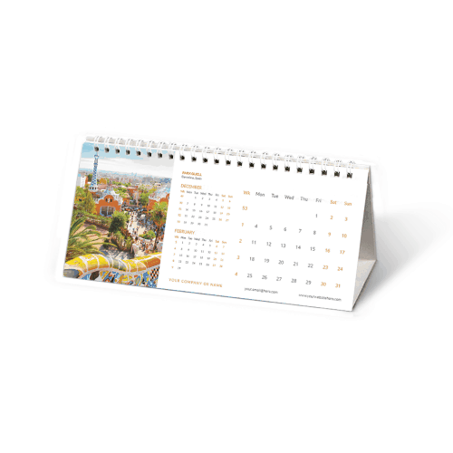 DL Desk Calendars Personalised Printed