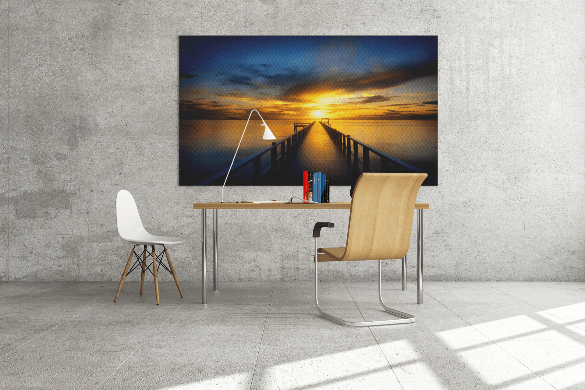 Rectangle Canvas Print stretched onto wooden bars