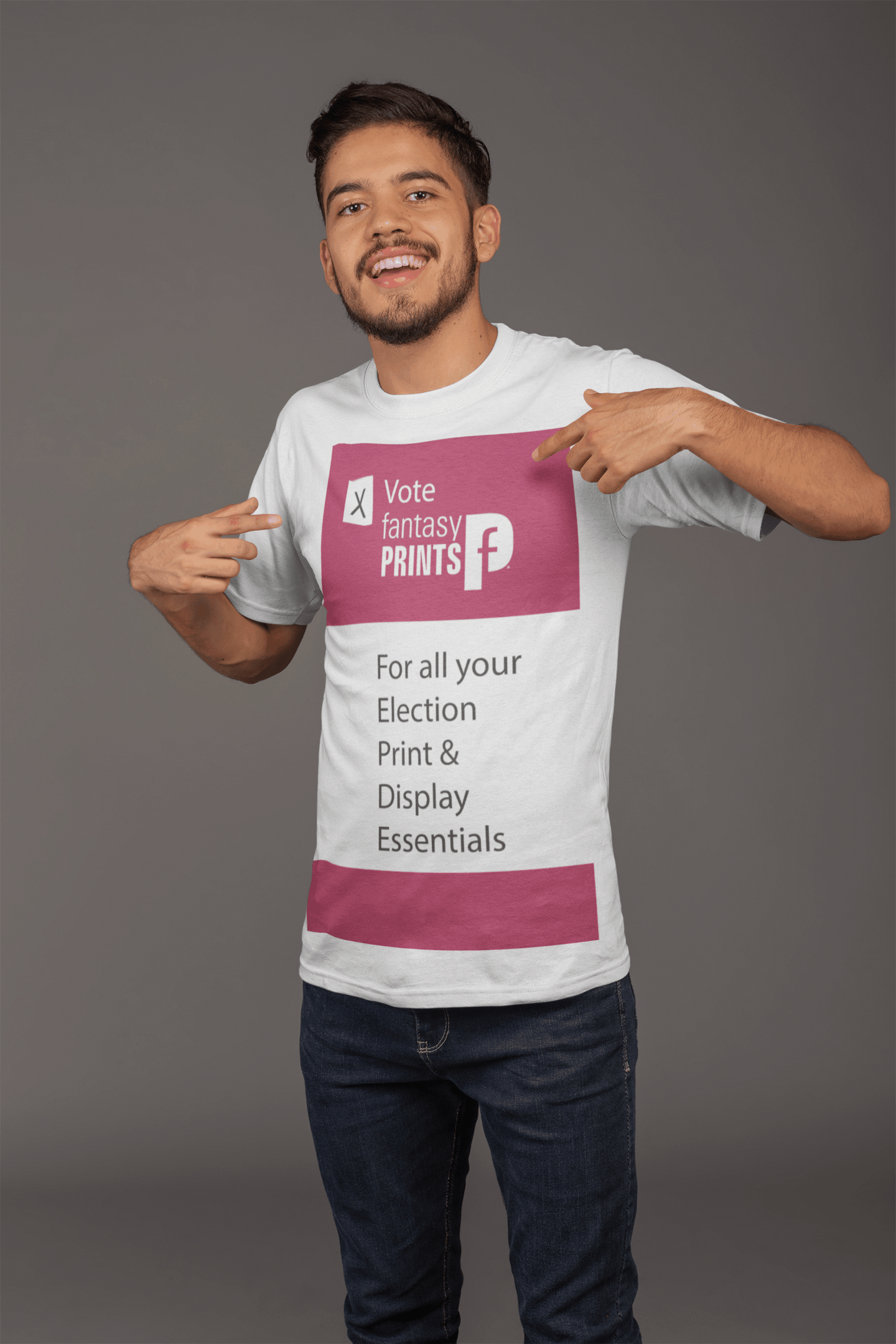 Promotional Customised Printed White T-Shirts have anything printed on them!
