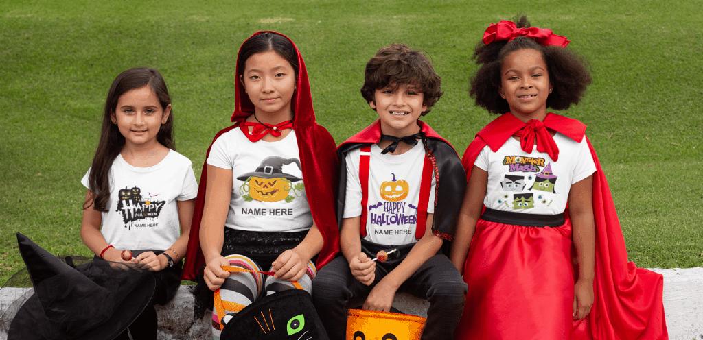 Kids Halloween Personalised T-shirts