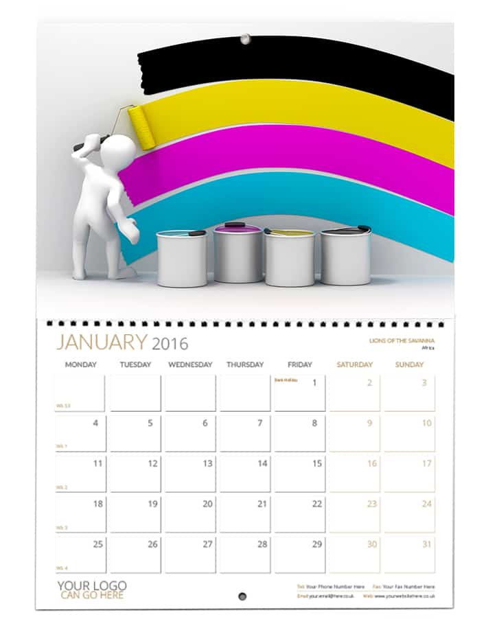 Booklet Wiro Wall Calendar Personalised