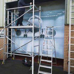 Roller Door Vinyl Graphics Installation