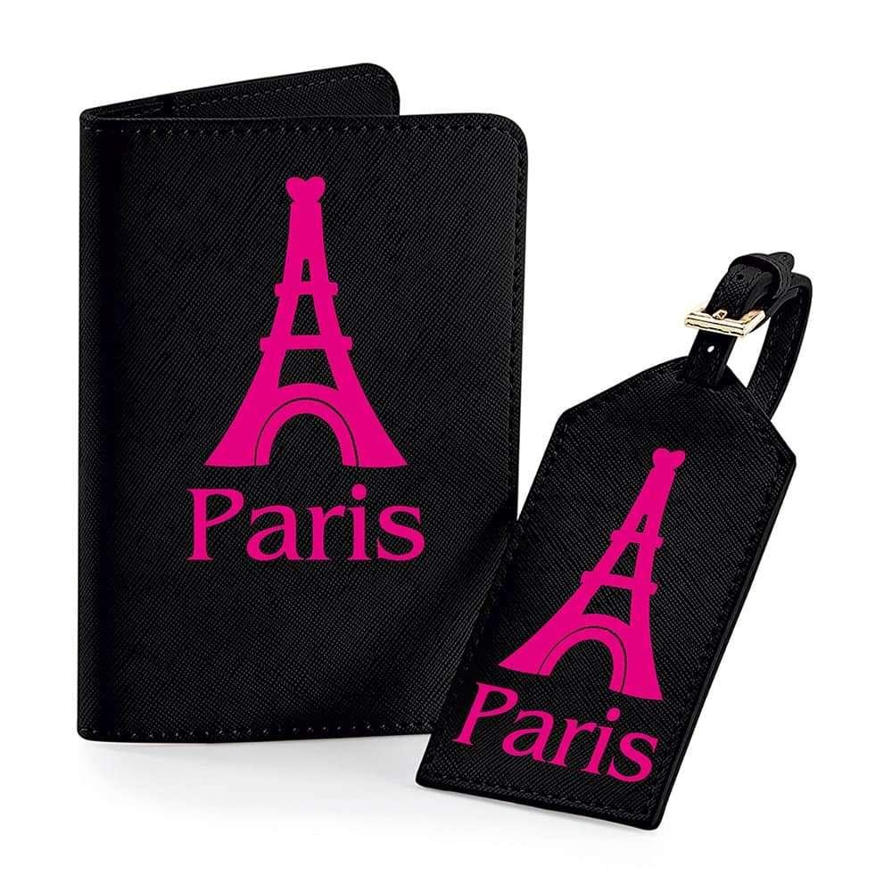 Personalised Travel Set Black Printed